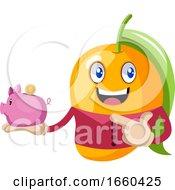 Mango Holding Piggy Bank