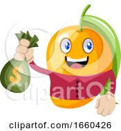 Mango With Bag Of Money