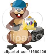 Beaver With Blue Hat