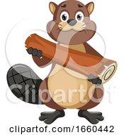 Beaver Holding Log