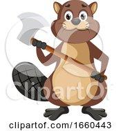 Beaver Holding Axe