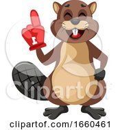 Beaver With Big Glove