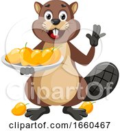 Beaver With Mangoes