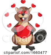 Poster, Art Print Of Beaver In Love
