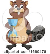 Beaver With Sand Watch
