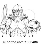 Viking Trojan Celtic Knight Soccer Warrior Woman