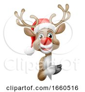 07/27/2019 - Reindeer In Santa Hat Christmas Cartoon