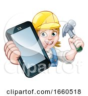 Poster, Art Print Of Carpenter Handyman Phone Concept