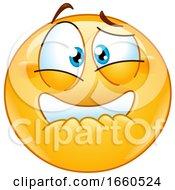 Poster, Art Print Of Cartoon Frightened Emoji Smiley