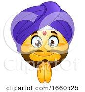 Poster, Art Print Of Cartoon Male Indian Emoji Smiley