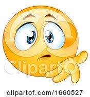 Poster, Art Print Of Cartoon Concerned Emoji Smiley