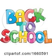 Poster, Art Print Of Colorful Back To School Design