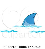 Cartoon Shark Dorsal Fin Above Water by visekart