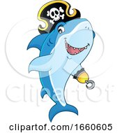 Cartoon Pirate Shark