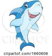 Cartoon Happy Shark by visekart
