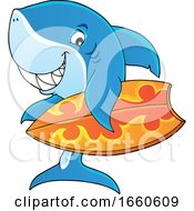 Cartoon Surfer Shark by visekart