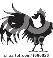 Poster, Art Print Of Silhouetted Rooster