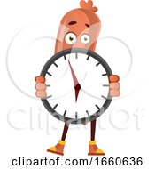 Poster, Art Print Of Sausage With Clock