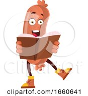 Poster, Art Print Of Sausage Reading Book