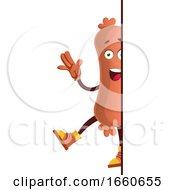 Poster, Art Print Of Sausage Saying Hi
