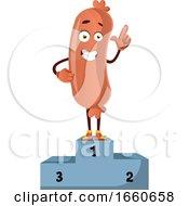 Poster, Art Print Of Sausage On Winning Stage
