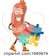 Poster, Art Print Of Sausage With Puzzle