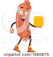 Poster, Art Print Of Sausage With Coins