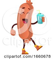 Poster, Art Print Of Sausage With Bottle Of Water
