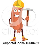 Poster, Art Print Of Sausage With Hammer