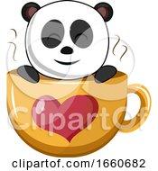 Panda In Big Cup
