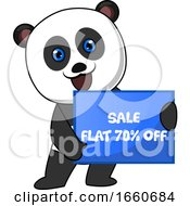 Panda With Sale Sign
