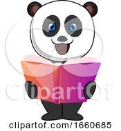 Panda Reading Book