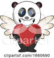 Poster, Art Print Of Panda With Heart
