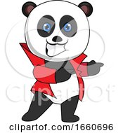Panda With Red Jacket