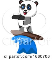 Panda Surfing by Morphart Creations