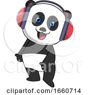 Panda With Headphone