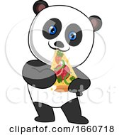 Panda Eating Pizza
