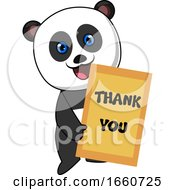 Panda With Thank You Sign