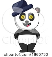Panda With Blue Hat