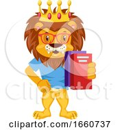 Lion With Notebooks