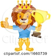 Lion With Trophy