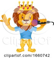 Lion With Microphone