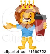 Lion With Thermos