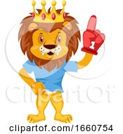 Lion With Red Glove