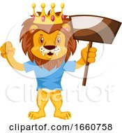 Lion With Dust Pan