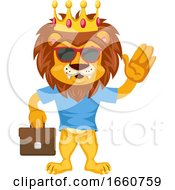 Lion With Suitcase
