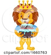 Lion With Birthday Cake