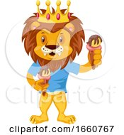 Lion With Ice Cream