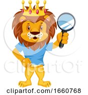 Lion With Magnification Tool
