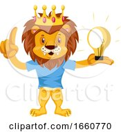 Lion Having Idea